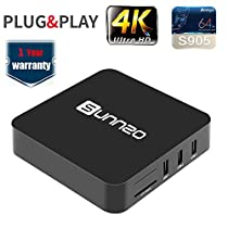 SUNNZO G8 Pro 1080P Android 5.1 TV BOX with Amlogic S905 Quad Core 1GB RAM/8GB eMMC/4K Streaming Media Player with Wifi,H.265