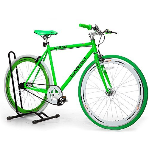 Caraci CBF2ST53WG Steel Frame Fixed Gear Bike White/Green 53cm [並行輸入品] B06XFVCNW3