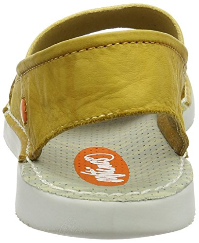 Softinos Damen Tai383sof Washed Sandalen Gelb (Yellow)