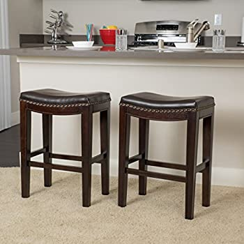Amazon Com Winsome Saddle Seat 24 Inch Counter Stool