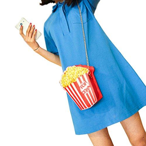 Lui Donna A Popcorn Tracolla Rosso Sui Borsa AwSArqxRz