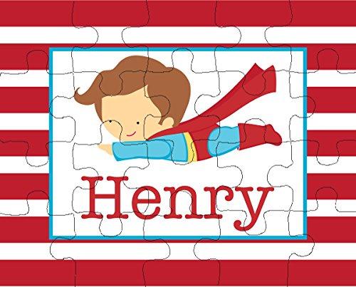 Flying Superhero 20-Piece Personalized Puzzle