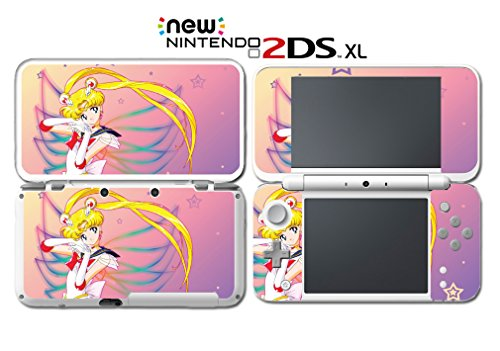 Jupiter Computer Cart - Sailor Moon Stars Mercury Mars Jupiter Video Game Vinyl Decal Skin Sticker Cover for Nintendo New 2DS XL System Console