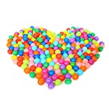 Olymstore 200pcs Water Ocean Ball, Crush Proof Soft Plastic Air-Filled Colorful Phthalate Free Sea Fun Playballs with Rainbow Bright Color, Baby Kid Toys Pool Swim Game Party, 2.17'' / 5.5cm Diameter