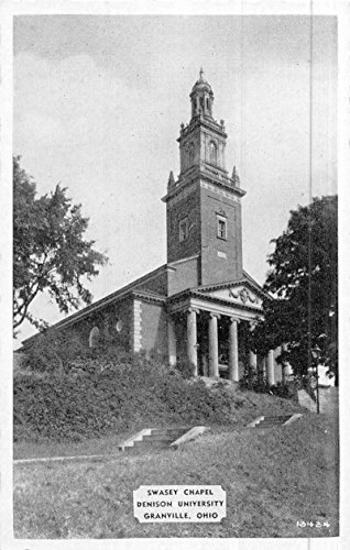 Granville Ohio Swasey Chapel Denison University Antique Postcard K47855