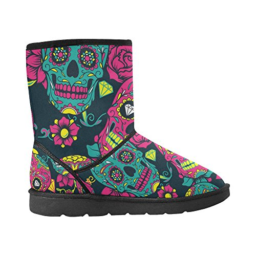 Day Shoes The colorful Men Boots skull Fashion sugar For LEINTEREST Dead InterestPrint Snow of R4TTnP