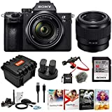 Sony a7 III Full Frame Mirrorless Interchangeable Lens Camera w/ 28-70mm & FE 50mm f/1.8 Two Lens Kit