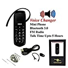 LONG-CZ J8 Unlock mini mobile phone Bluetooth dialer earphone inch Single SIM card MP3 SMS Low radiation cell phones (Black) 0.66