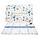 Magnetic Calendar Planner - Dry-Erase Weekly Planner For Refrigerator - 16'' by 14'' Multi-purpose, Undated, With Free Marker - Best For To-Do List, Meal Planner, Shopping List - Perfect Christmas Gift