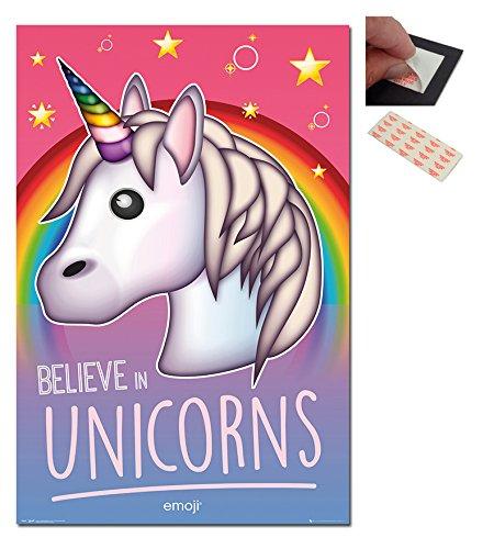 Emoji Believe In Unicorns Poster - 91.5 x 61cms