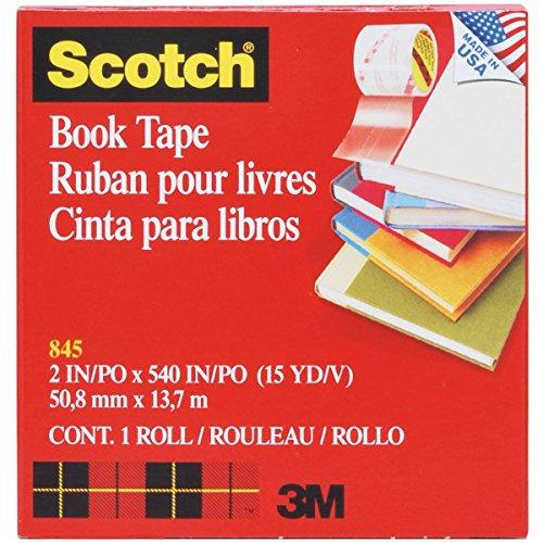 3m Scotch 845 Book Tape - Scotch Book Tape , 2 Inches x 15 Yards, (845) 4-PACK