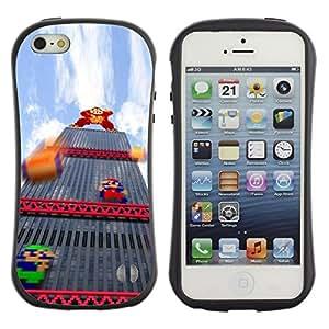Suave TPU GEL Carcasa Funda Silicona Blando Estuche Caso de protección (para) Apple Iphone 5 / 5S / CECELL Phone case / / Italian Plumber Retro Pc Game /