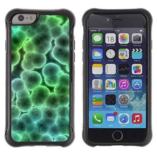 Pulsar iFace Series Soft TPU Skin Bumper Case Cover for Apple iPhone 6+ Plus(5.5 inches) , Microscope Bacteria Virus Wallpaper Art (Bacteria Wallpaper)