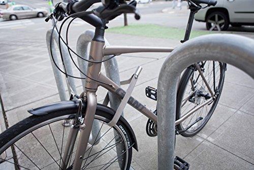 TiGr mini+ 2-Pack: 2 Bike Locks & 4 Keys (Keyed Alike) & 2 Mounting Clips by TiGr Lock (Image #5)