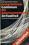 Programme commun de gouvernement actualisé par Marchais