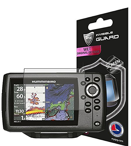 ANTI - GLARE HUMMINBIRD Helix 5 CHIRP - CHIRP DI - CHIRP SI62 GPS FISHFINDER Invisible Film Screen Protector Guard Cover Free Lifetime Replacement Warranty Bubble -Free By IPG