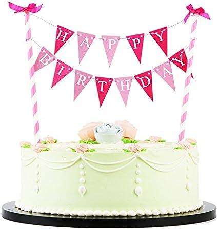 Fine Amazon Com Lxzs Bh Lveud Rose Bow Knot Mini Happy Birthday Cake Birthday Cards Printable Opercafe Filternl