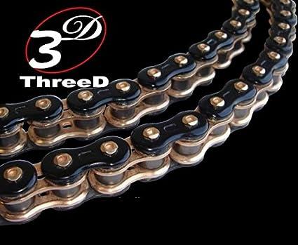 EK Motor Sport EK Chain 520 ZVX3 Series ZX-Ring Chain 120 Links Blue