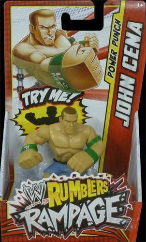 Amazon Com Wwe Rumblers Rampage John Cena Punch Action Figure