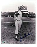 Signed Gentile Picture - 8X10 Vintage Dodgers Pose w Bat COA - Autographed MLB Photos
