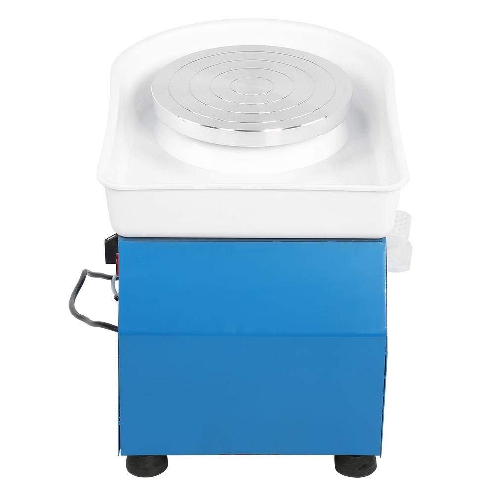 Aufee Electric Pottery Wheel Machine, 350W Blue Electric Pottery Wheel Machine Ceramic Throwing Clay Shaping Tool with Pedal for School Teaching and Pottery DIY Shop(US Plug, 110V) by Aufee (Image #7)