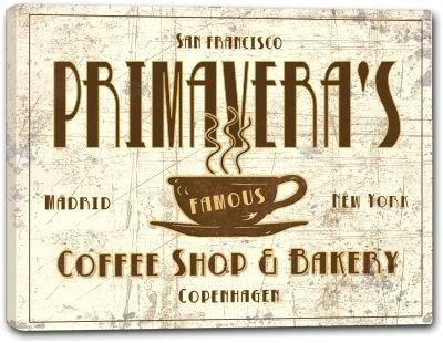 Primavera Coffee (PRIMAVERA'S Coffee Shop & Bakery Canvas Print 24
