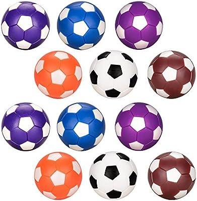 Futbolín de Recambio 12pcs, Oziral Balones de Fútbol ABS Plástico ...