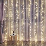 For The Love of Grace 300 LED Curtain Lights - Indoor/Outdoor Wall Decorations, Wedding, Garden& More