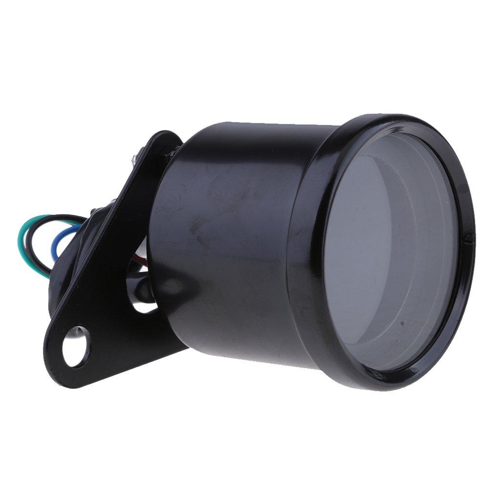 D DOLITY Motorcycle Motorbike LED Backlight Digital Speedometer Tachometer Odometer Gauge Meter (Black)