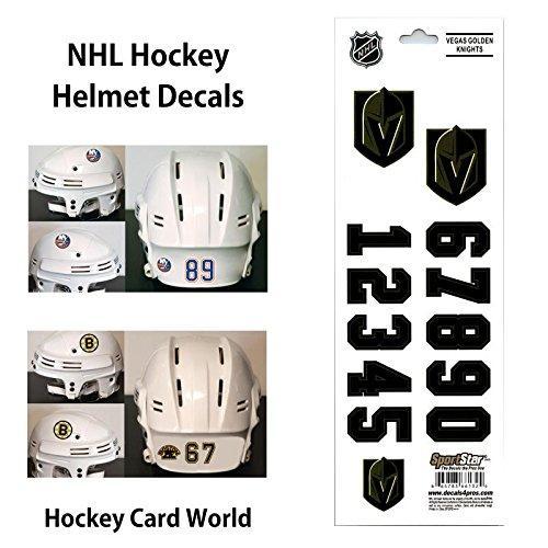 ((HCW) Vegas Golden Knights SportsStar NHL Hockey Helmet Decals Sticker)