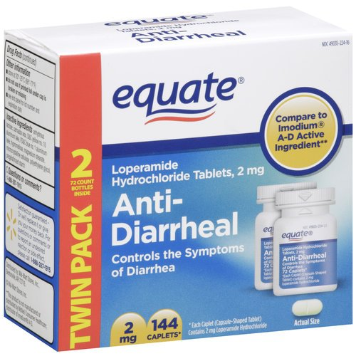 Equate - Anti-diarrhéique, lopéramide 2 mg, 144 Caplets (Comparez à AD Imodium)