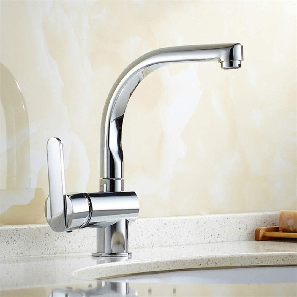 360° redatable Modern Faucetbasin Faucet Single Handle Single Hole Hot and Cold Basin