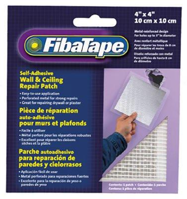 SAINT GOBAIN ADFORS FDW6836-U Wall & Ceiling Repair Patch, Perforated Aluminum, 4 x 4-In. - Quantity 24