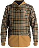 DC Men's Backwoods Insulated Flannel Shirt Water Proof Snowboard Jacket, Dull Gold, X-Large