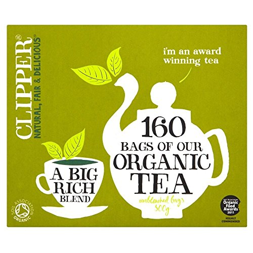Clipper Organic Everyday Tea Bags (160) - Pack of 6 by Clipper