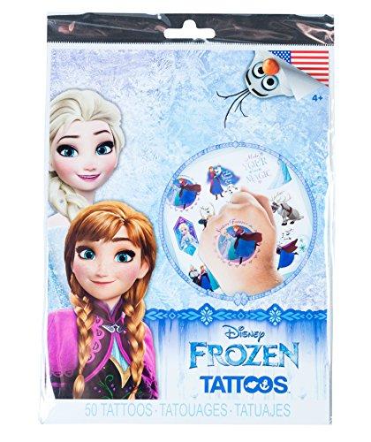 (Savvi Disney Temporary Tattoos, Set of 50, Disney Frozen,)