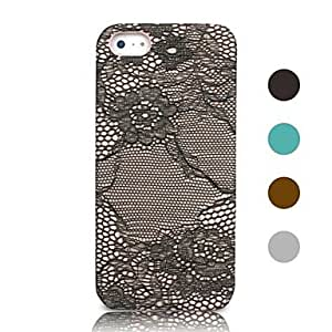 WQQ iPhone 5/iPhone 5S compatible Solid Color/Special Design/Novelty Back Cover , Brown