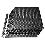 PROIRON Interlocking Floor Mat Protective Mats Floor Guards 24 SQ FT