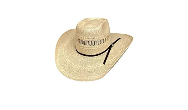 f4bef5354cc Bullhide Gleason 100X 7 Medium Straw Cowboy PBR Hat - (Natural TAN) Color  at Amazon Men s Clothing store