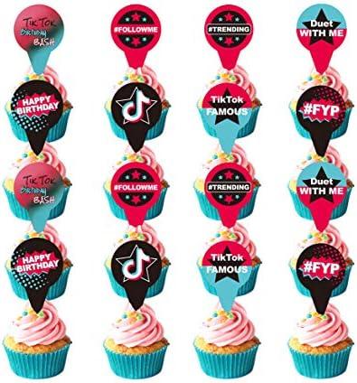 12 TikTok Cupcake Toppers