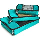 TravelWise Packing Cubes - 3 Piece Set (Teal)