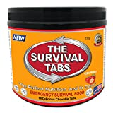 Survival Tabs 7-day Food Supply Emergency Food Ration 90 tabs Survival MREs for Disaster Preparedness for Earthquake Flood Tsunami Gluten Free and Non-GMO 25 Years Shelf Life - Strawberry Flavor