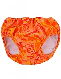 Tuga Girls Reusable Swim Diapers - Groovy Orange, XL