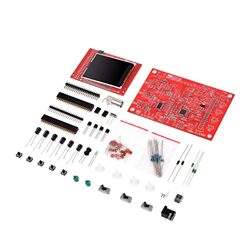 SHUOGOU DSO138 Handheld Pocket-size Digital Oscilloscope Kit Open Source 2.4 inch TFT 1Msps with Probe Assembled Vision (Welded) Making Electronic Diagnostic-tool (Testers Kit Source Open Tool)