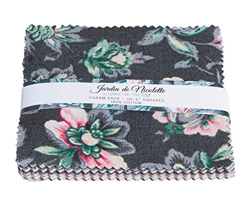 Connecting Threads Print Collection Precut Quilting Fabric Bundle (Jardin de Nicolette - 5