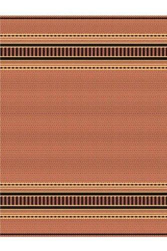 Pueblo Outdoor Area Rug, 3'9''x5'5'', TERRA COTTA BLK by Home Decorators Collection
