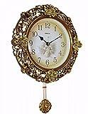 SUNQIAN-European clock, American retro creative art hanging hanging clocks, silent pastoral clocks, creative table clock