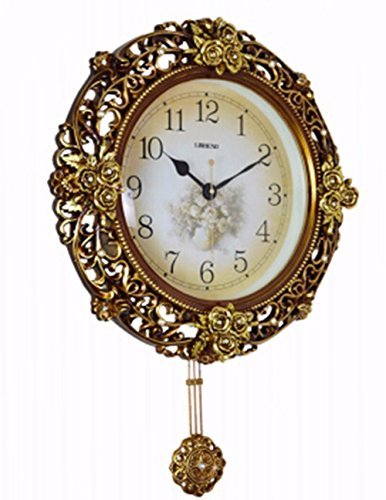 SUNQIAN-European clock, American retro creative art hanging hanging clocks, silent pastoral clocks, creative table clock by SUNQIAN