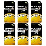 6 Duracell 379 Duralock Silver Oxide Coin Cell Batteries Electronics Watch 1.5v