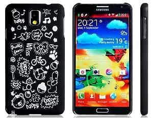 Get Letter & Cartoon Pattern Plastic Case for Samsung Galaxy Note 3 N9000 N9005 (Black)